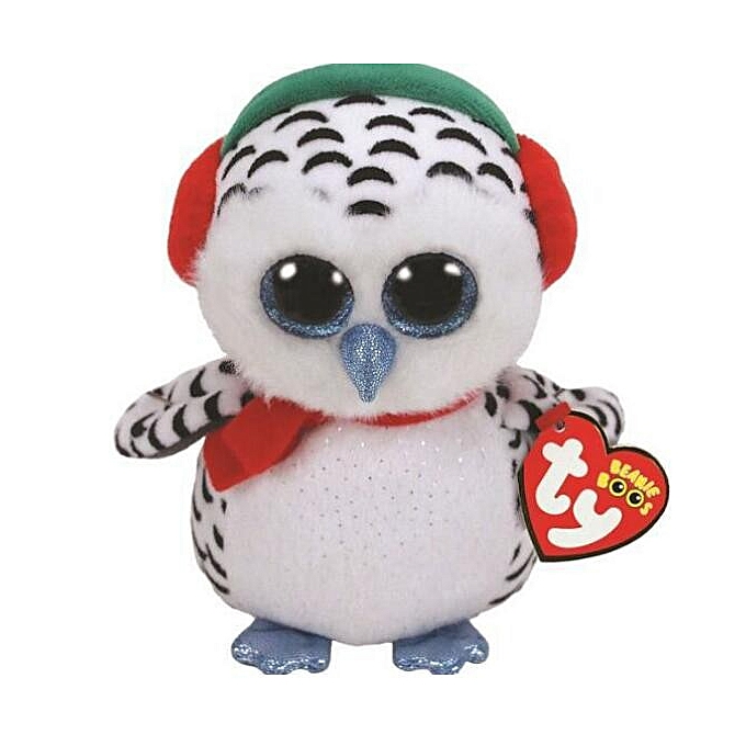 Autre TY Beanie Boos 15cm Sequin Dangler Unicorn Bird Dog Cat Fox Owl Fish Dragon Plush Toys Big EyesStuffed Animal Soft Toy Enfant Gift(Khaki) à prix pas cher