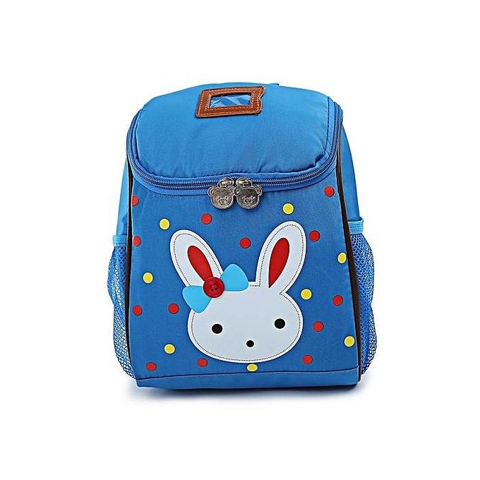 Fashion Minicar bleu Cute Rabbit Cartoon Polyamide Mini School Backpack for Girls à prix pas cher