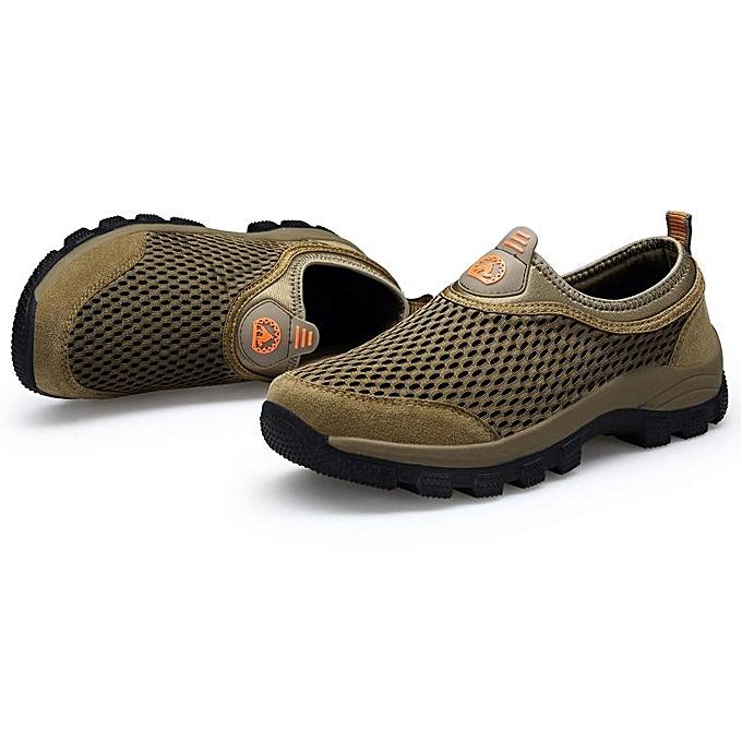 Fashion Slip Fashion   Mesh Splicing Slip Fashion Resistant Outdoor Hiking Climbing Sneakers-EU à prix pas cher  | Jumia Maroc e8f55a