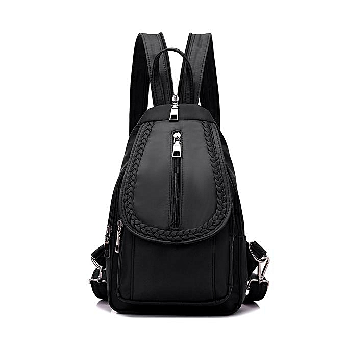 mode femmes Braid Decoraction Nylon imperméable Décontracté Chest sac de plein air bandoulière sac noir à prix pas cher