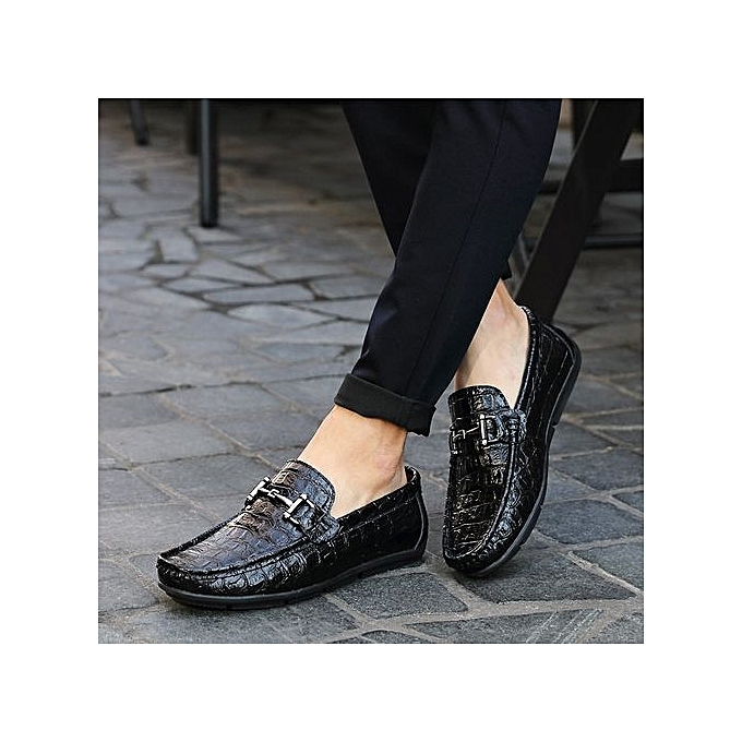 Zant Genuine  Leather  Genuine  Formal Shoes British Sytle Loafers Slip-On Blue à prix pas cher  | Black Friday 2018 | Jumia Maroc 598201