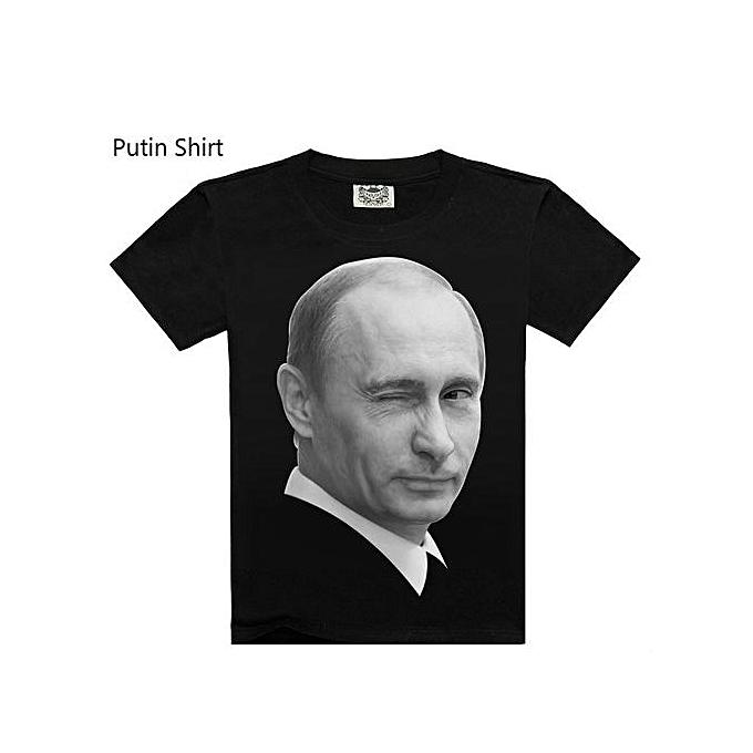 Other T shirt impression manche courte Putin 3D noir Pour des hommes Shirts à prix pas cher