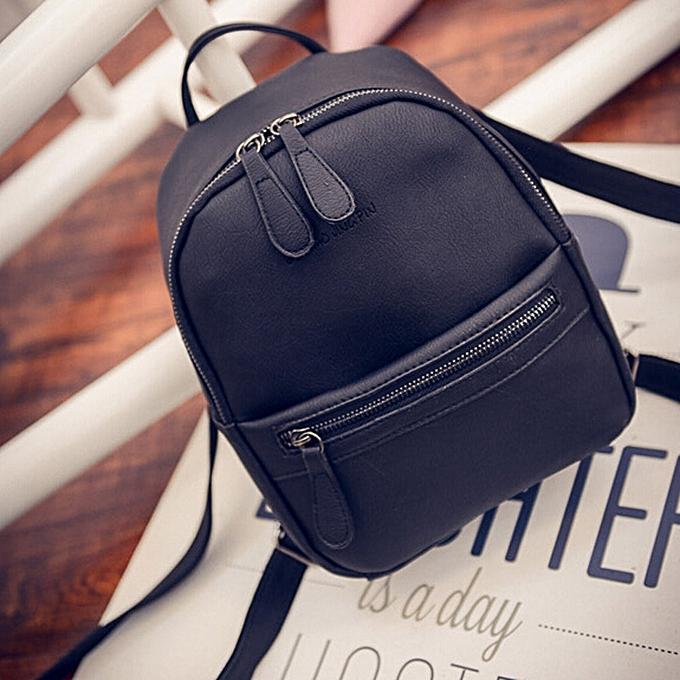 mode Tcetoctre femmes Girl sac à dos Shoulder Booksacs School sac Satchel voyage cuir sac à dos-noir à prix pas cher