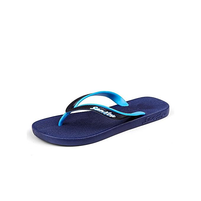 OEM New Super Large Taille Men's EVA Soft Flip Flops Non-slip Waterproof Slippers Indoor Shower slip beach slippers-bleu à prix pas cher    Jumia Maroc