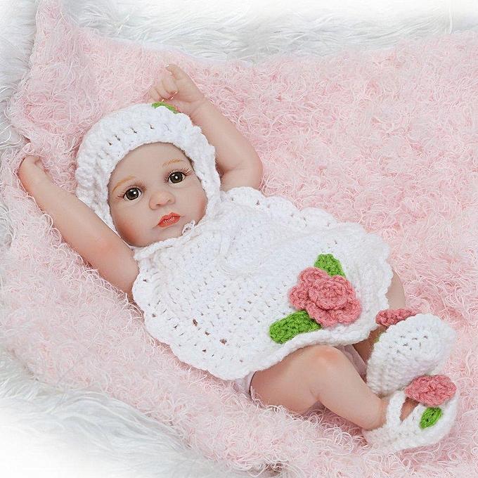 Autre Poupées de bébé reborn en silicone 10 pouces vivantes réalistes, yeux ouverts, blanc réaliste à prix pas cher