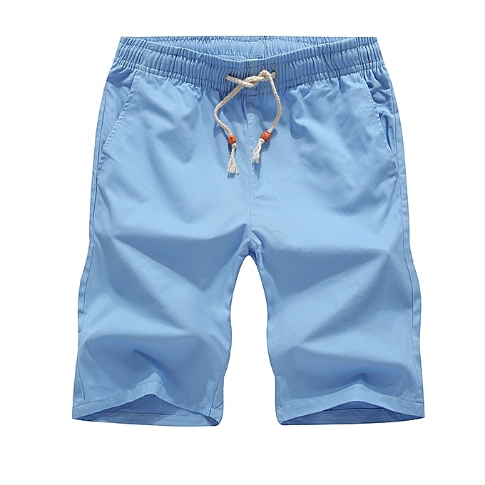 Other New Stylish Men's Sports Beach Pants Loose Cotton Pants Thin Pants -Sky bleu à prix pas cher