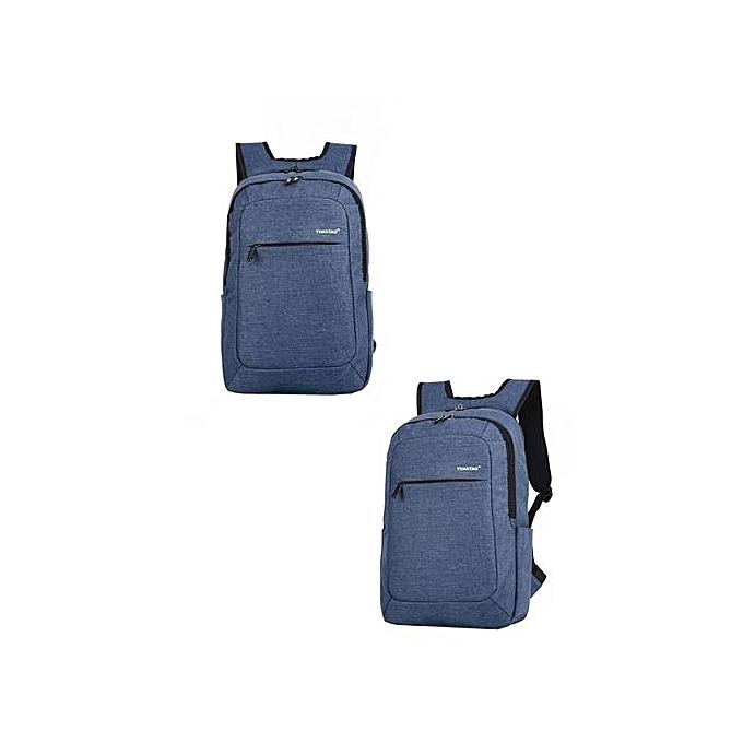 Fashion jiahsyc store femmes Men Fashion Travel Satchel School Bag Backpack Bag Laptop Bag BU-bleu à prix pas cher