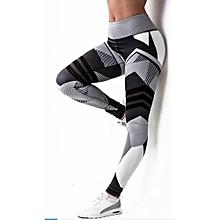 Popular Yoga Pants Fitness Leggings Sports Elastic Breathable Female Tights  Running Sexy Slim Crackle Printed KUA 6a38e795ada