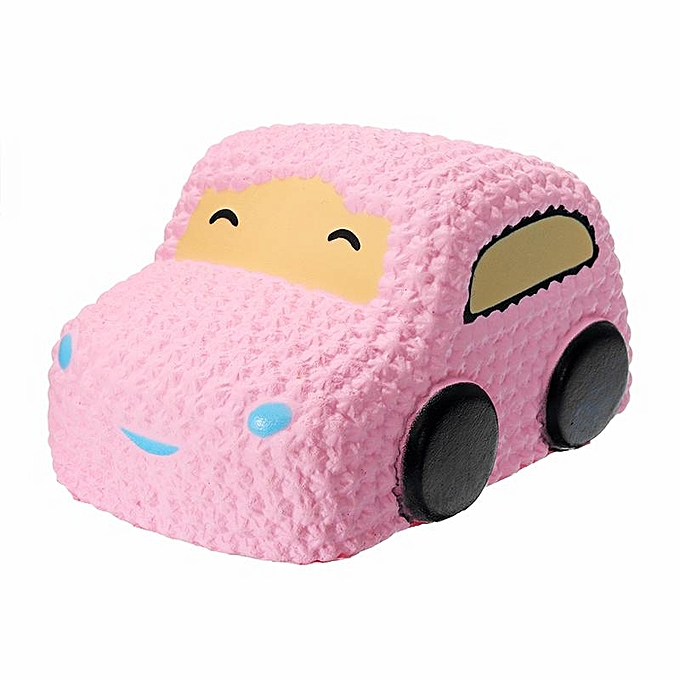 UNIVERSAL Squishy voiture Racer Cake Soft SFaible Rising Toy Scented Squeeze Bread - rose à prix pas cher