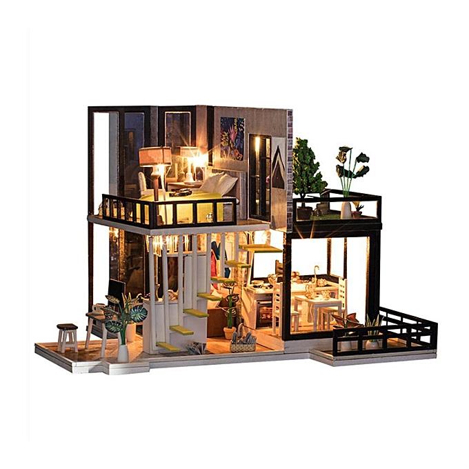 Autre Joyfeel Assembly Building Modèle Jouet Maison De Poupée En Bois Miniature DIY Kit Dollhouse à prix pas cher