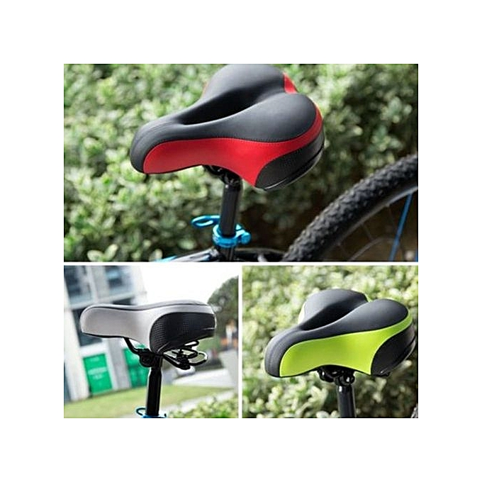 UNIVERSAL Foam Padded Wide Big  Road MTB Saddle Bike Bicycle Cycling Seat Soft Cushion rouge à prix pas cher