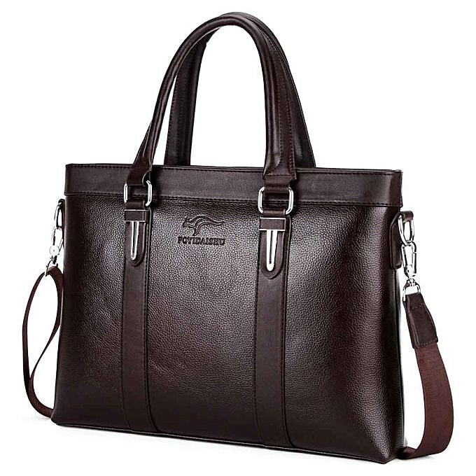 Fashion famous Brand Top Sell Man Bag Fashion Simple vintage Business homme Briefcase Bag Leather Laptop Bag Casual Shoulder bags à prix pas cher