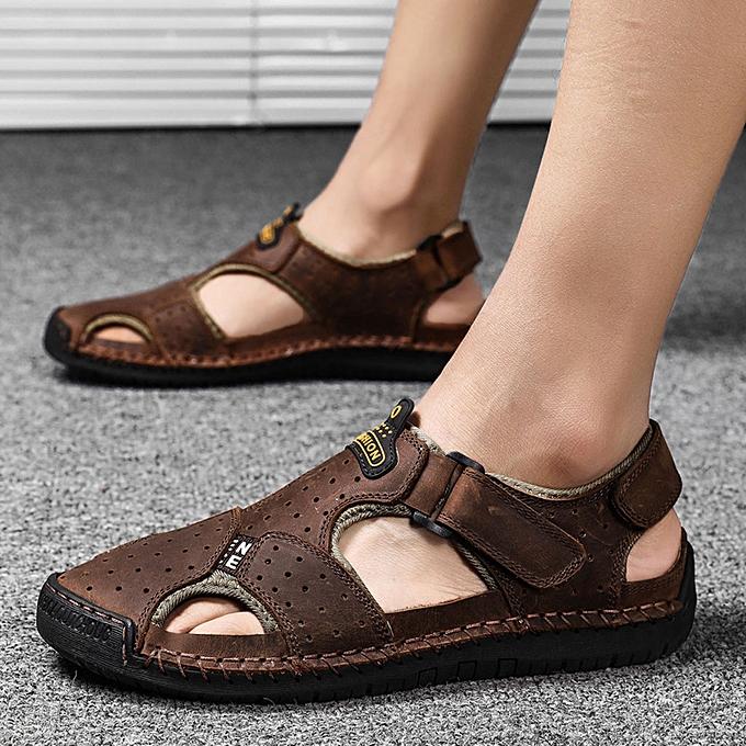 Fashion jiuhap store Men's Summer Fashion Trend Beach Casual Comfort Wild Sandals à prix pas cher    Jumia Maroc