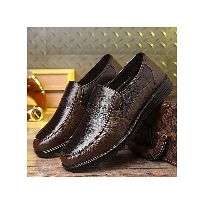 Zant Genuine Leather Formal   Formal Leather Shoes British Sytle Loafers Slip-On à prix pas cher  | Jumia Maroc ca1427