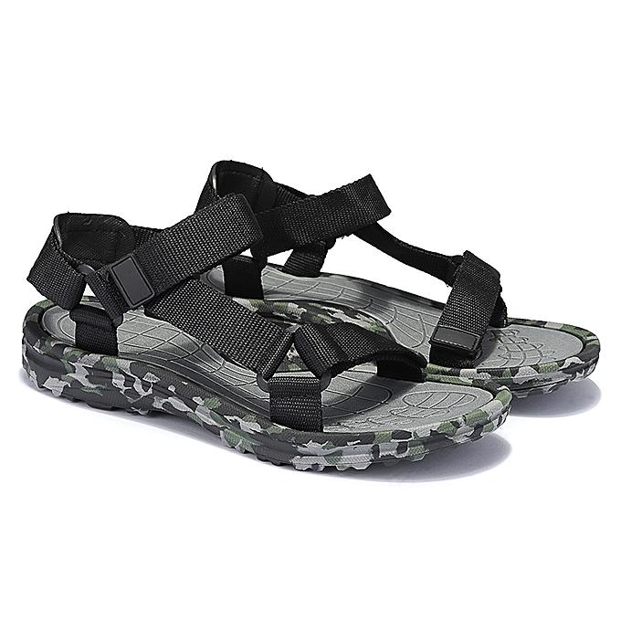 Fashion Men Casual Camo Sandals Outdoor Fisherhomme chaussures Hiking Beach Walk Soft Slippers à prix pas cher