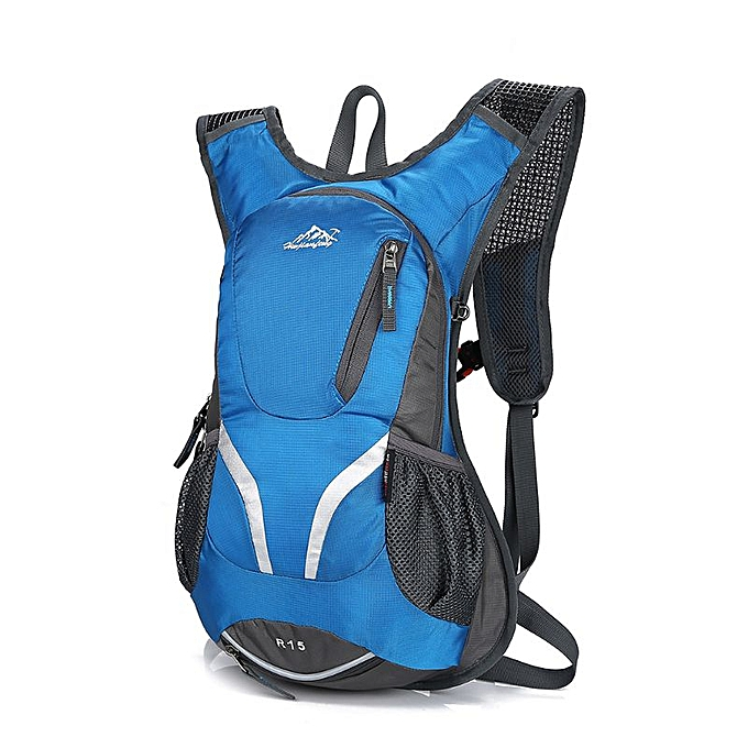 Other 15L Cycling Backpack with Helmet Holder Lightweight Sports Bag MTB Mountain Bicycle Rucksack(bleu) à prix pas cher