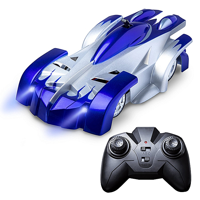 Autre Wall RC Climbing Racing Car Sport Climber with LED Lights  360 Degree rougeating Stunt Toys Home Vehicle Mini Gravity Remote Control Cars Electric Rocket Toy Xmas Gift bleu à prix pas cher