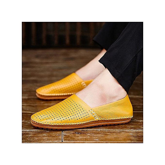 HT  's Soft Cut-Out Cow Leather Loafer Flats prix Comfy Driving Shoes à prix Flats pas cher  | Jumia Maroc 600919