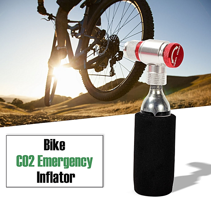 Other Bike Manual CO2 Inflator Bicycle Cycling Tire Inflator Compatible Presta Schrader Valve Emergency Pump Empty Cartridge Included à prix pas cher