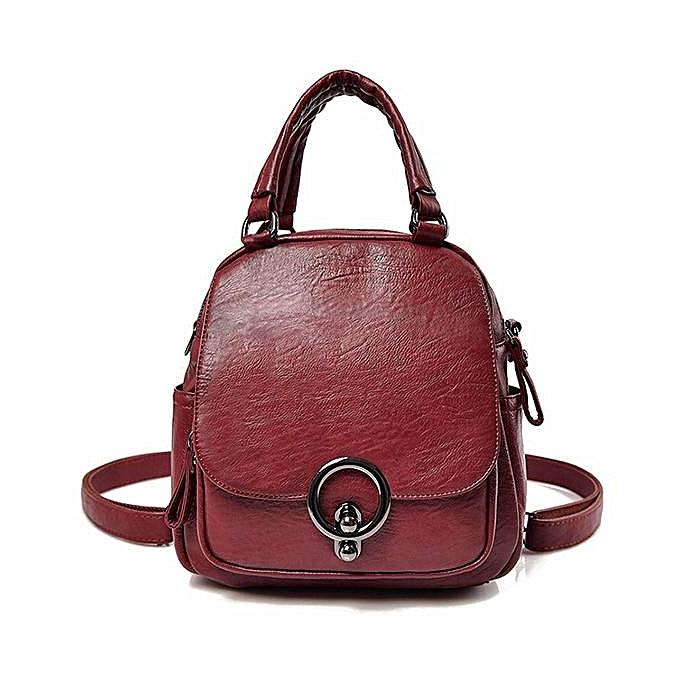 mode femmes Leisure Handsac Soft cuir Double Layer bandoulière sac Multi-function sac à dos à prix pas cher