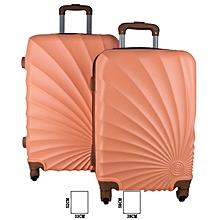 7d3346ee34d6a Set de 2 Valises Coquillage Cabine et Moyenne - Orange