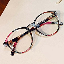 5032ce5e4 New iBelieve style mode femmes cadre rond lunettes anti-rayonnement verre  simple