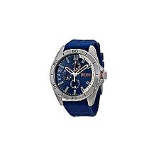 91cc06141d5e Montre pour homme 1513291 bracelet en silicone -bleu-
