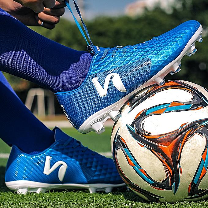 Other Les chaussures de football à pointes bleues sont de bonne qualité à prix pas cher