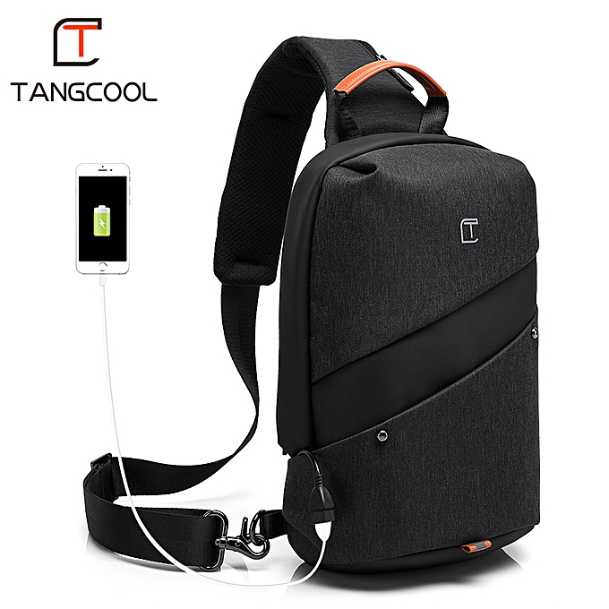 Other 2019 New Tangcool Brand Men Fashion Messenger bags waterproof Oxford femmes Chest Cross Body Bags Leisure Packs USB Charging port à prix pas cher