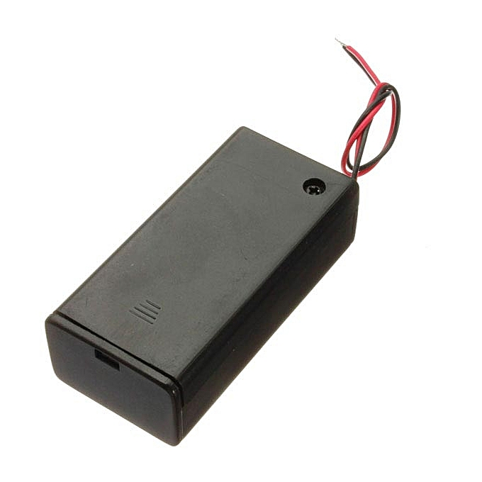 UNIVERSAL 10Pcs 9V Battery Box Pack Holder With ON OFF Power Switch Toggle noir à prix pas cher