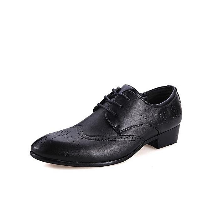 Fashion Carving Flower Brogue Formal chaussures Fashion Casual Oxfords chaussures -noir à prix pas cher    Jumia Maroc