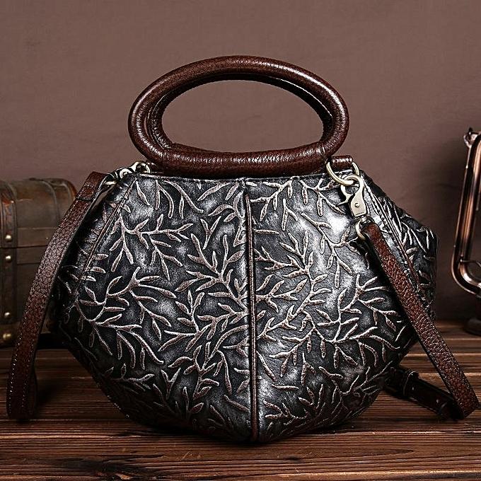 mode femmes Quality Genuine cuir Vintage Elegant Handsac Shoulder sac à prix pas cher