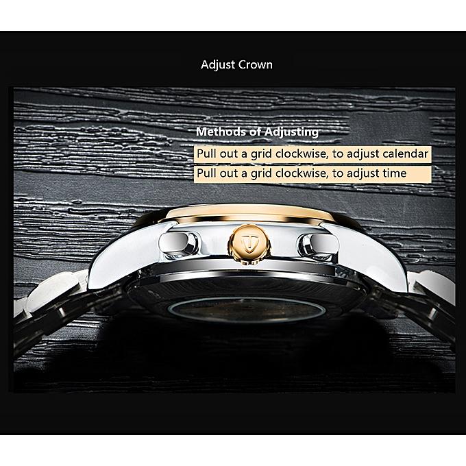 En Mécanique Squelette Automatique Phase Qualité Acier De D'affaires Inoxydable Tevise 9005 Horloge Haute Montre Lune Hommes L354RqAj