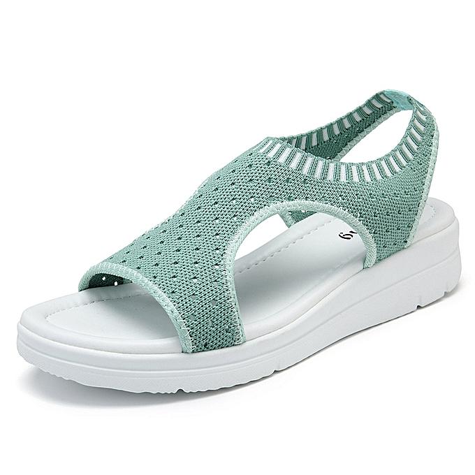 Fashion Roman femmes Mesh Ankle Beach Sandals à prix pas cher