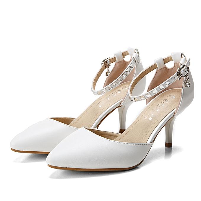 Fashion Crystal Bead Drill Metal Buckle Strappy Pointed Toe Slip On talons hauts Sandals Pumps à prix pas cher    Jumia Maroc