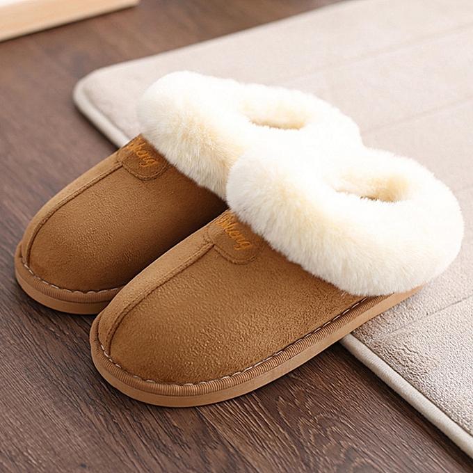 UNIVERSAL Home slippers femmes plush Slipppers Australia UG style female house Indoor man Bathroom slippers solid Adult pantufa CTSLP-162 à prix pas cher    Jumia Maroc