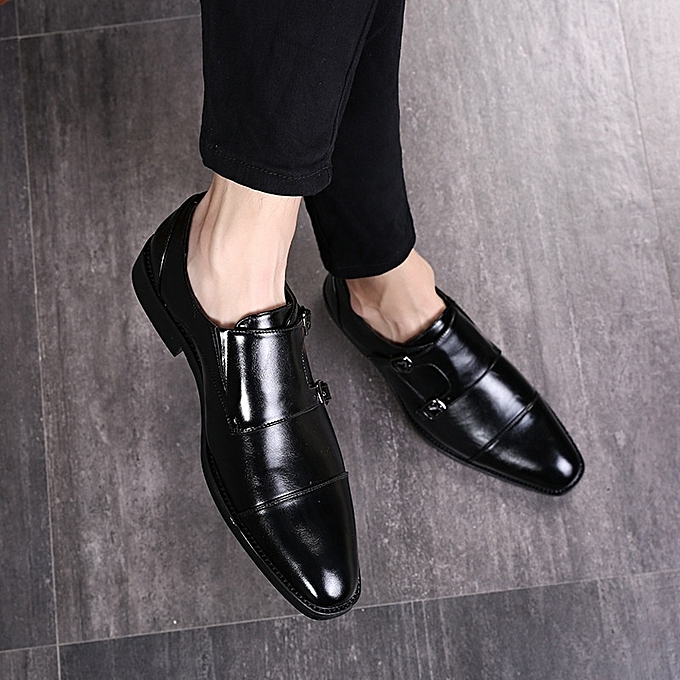 Other Stylish Men Plus Taille Flats Comfy Business chaussures Genuine Leather chaussures -noir à prix pas cher    Jumia Maroc