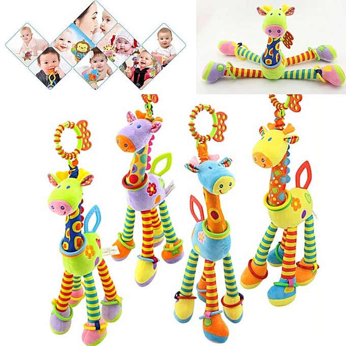 Autre Quality deer plush toys bed   mobile hanging   rattles toy giraffe with bell bague infant teether Toys gift(bleu) à prix pas cher