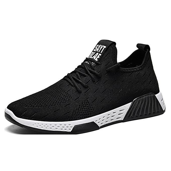 Fashion Fashion baskets breathable casual versatile chaussures noir à prix pas cher