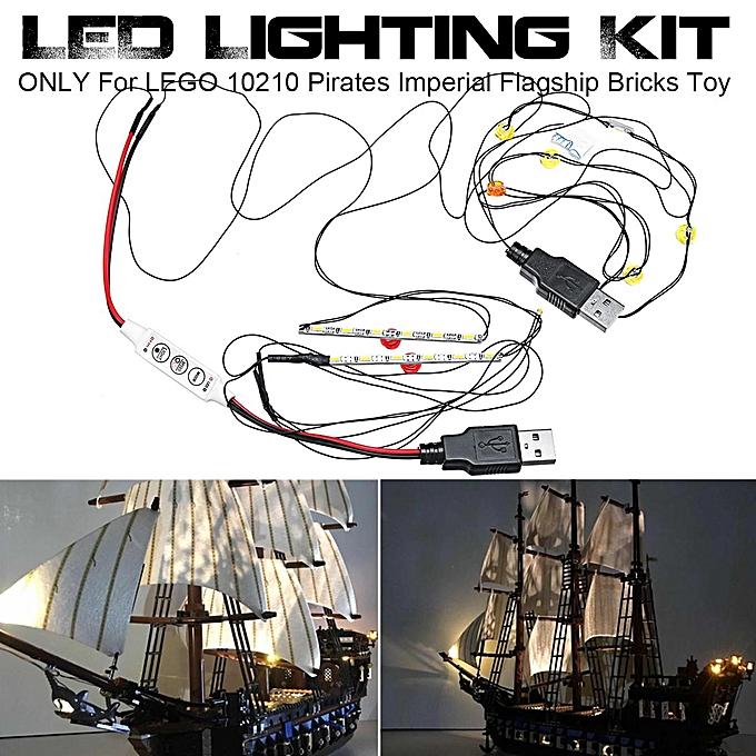 OEM LED lumière lumièreing Kit ONLY For L-EGO 10210 Pirates Imperial Flagship Bricks To à prix pas cher