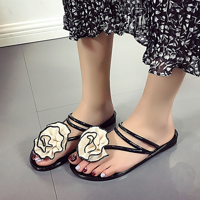 Fashion whiskyky store  femmes Flowers Summer Sandals Slipper Indoor Outdoor Flip-flops Beach chaussures à prix pas cher