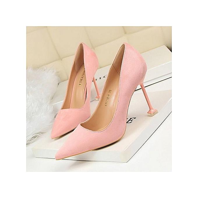 Fashion Mode  pédicure en daim chaussures à talons hauts pointues peu profondes à prix pas cher    Jumia Maroc