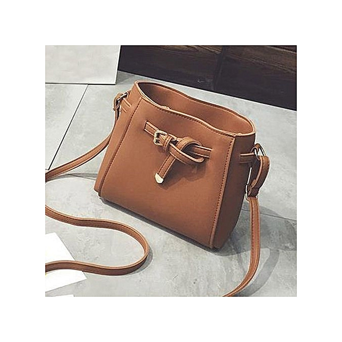Siketu femmes Fashion  Handbag Shoulder Bag Large Tote Ladies Purse BW- marron à prix pas cher