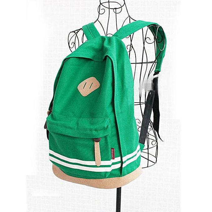 nouveauorldline Unisex voyage Sport toile sac à dos School Campus Shoulder sac à dos GN-vert à prix pas cher