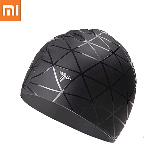 UNIVERSAL Xiaomi 7th Soft Silicone Swimming Cap Waterproof Sports Swim Pool Hat Ears Prougeection Adult Men femmes à prix pas cher