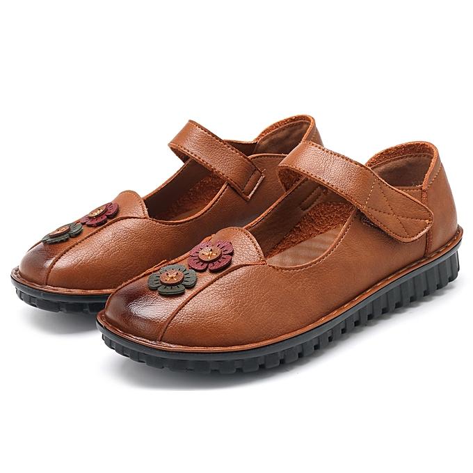 Fashion femmes Casual Comfy Soft Sole Hook Loop Leather Flat Loafers à prix pas cher    Jumia Maroc