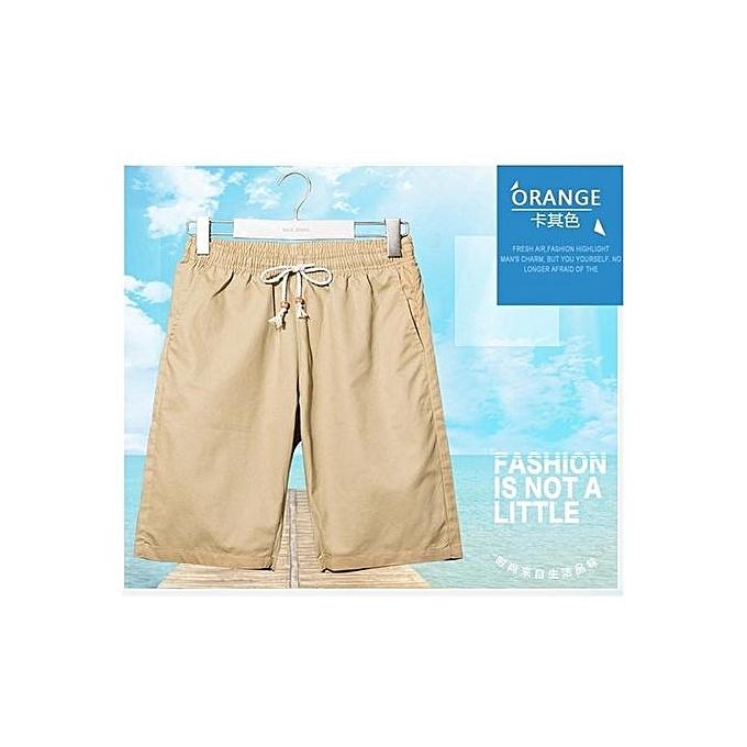Fashion Khaki New Shorts Men Summer Hot Sale Beach Shorts Homme Casual Style Loose Elastic Fashion Brand Clothing Plus Taille à prix pas cher