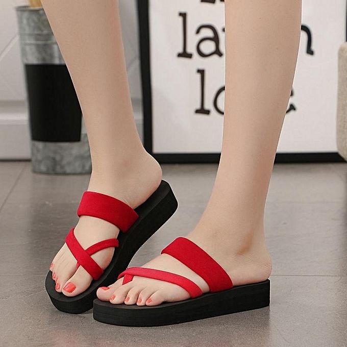 Fashion femmes Flat Beach Flip-flops Summer Antiskid Cozy Slippers Fashion Sandals chaussures-EU à prix pas cher