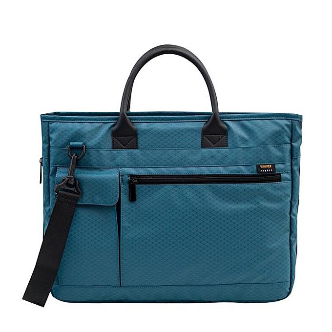 Other grand capacité Laptop Handsac for Hommes femmes voyage Briefcase Bussiness Notebook sac for 14 15 Inch Macbook Pro W-A17-70(bleu) à prix pas cher
