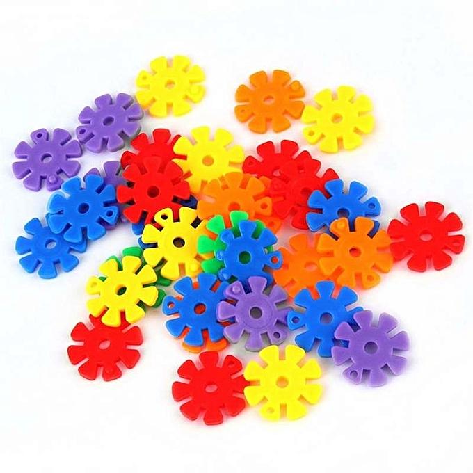 OEM Refined UINN 150Pcs Couleurful Plastic Snowflake Building Blocks Puzzle Educational Toy à prix pas cher